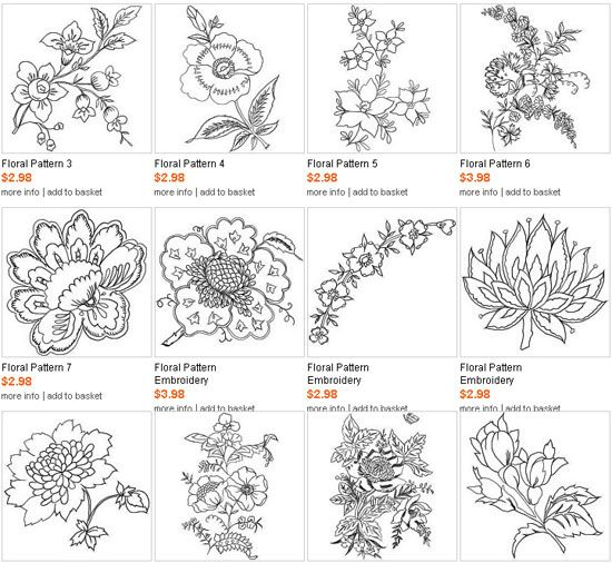 free printable hand embroidery designs | Best machine embroidery