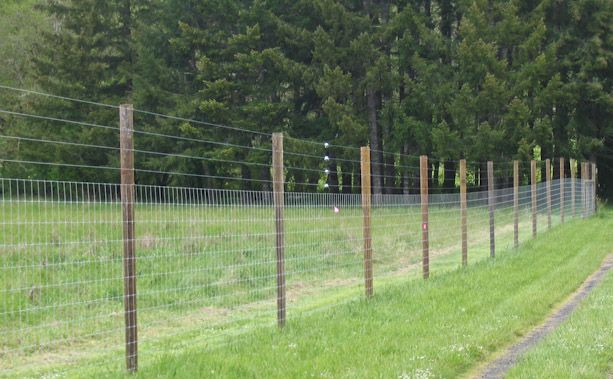 Heavyweight or extra heavyweight woven wire fences are for Garden fence posts ideas
