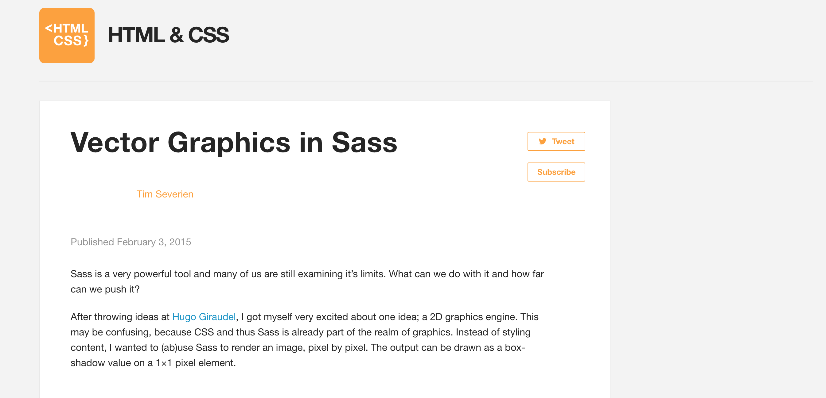 Vector Graphics in Sass