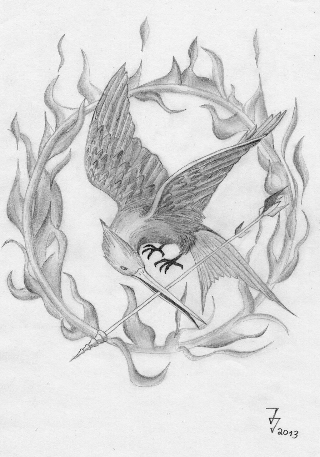 Mockingjay drawing with flames art pinterest mockingjay mockingjay drawing with flames buycottarizona Gallery