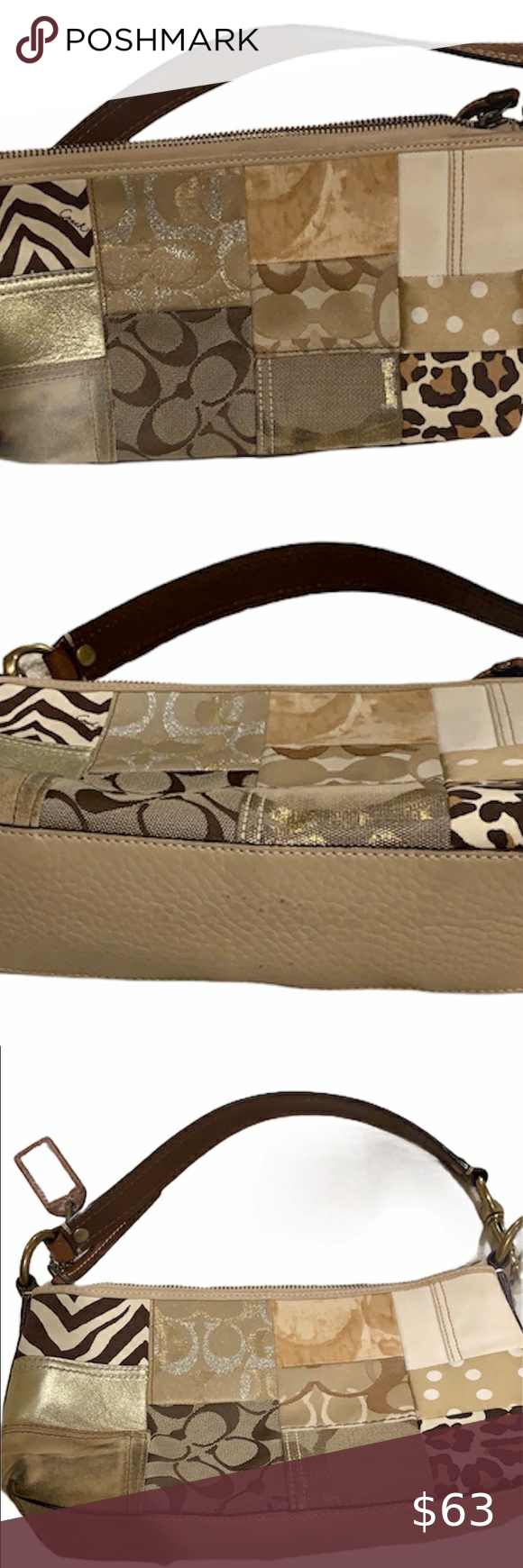 Beautiful coach purse in fun design, style 10813! Beautiful coach purse in fun design, style 10813! Used but still beautiful. Size is 11x6.5x2.5! The suede parts seen in the pics show some wear but overall still a lovely bag. Smoke free pet free home. Ask any questions! Ask me to bundle this listing with other listings for a discount! Coach Bags