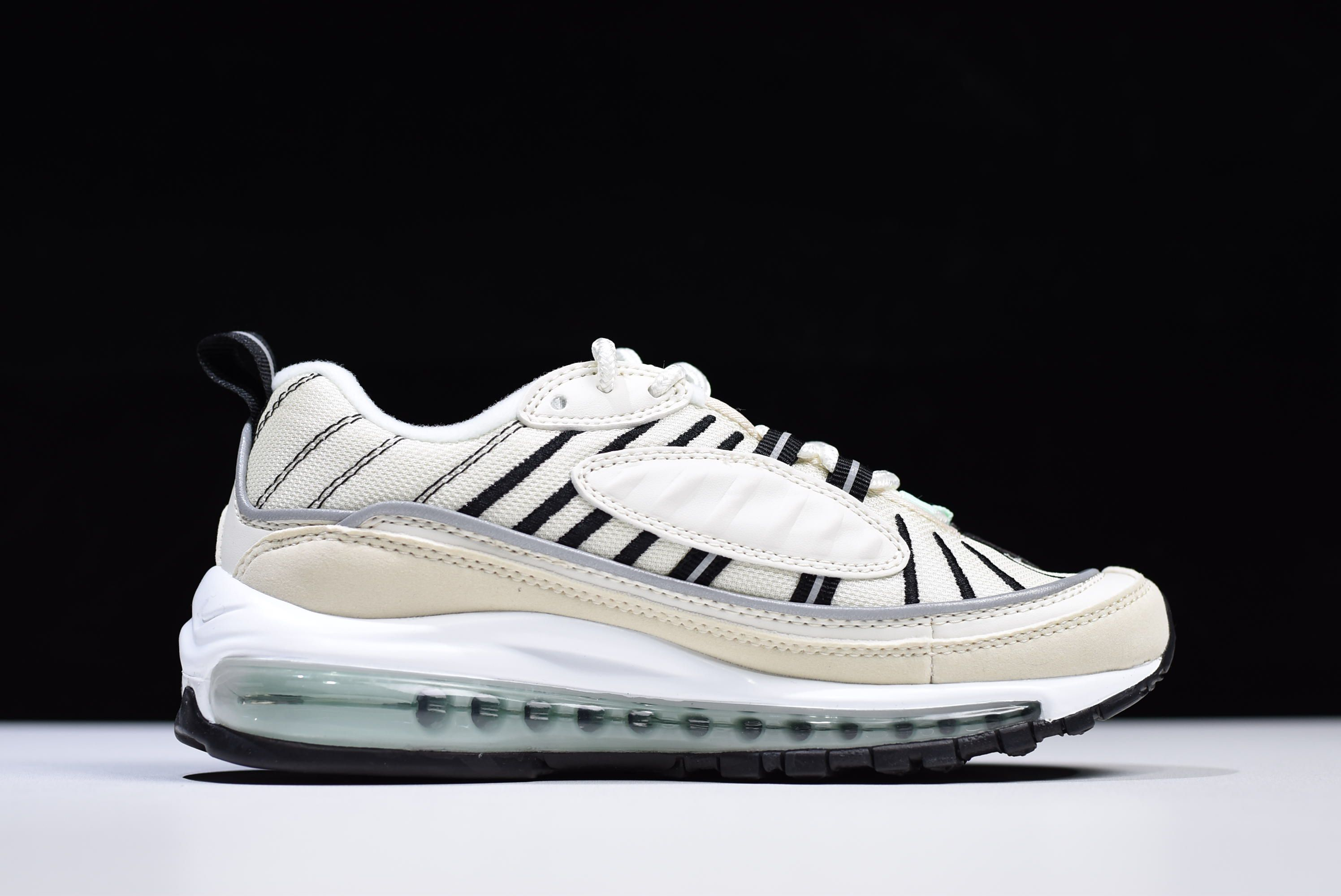 Womens Nike Air Max 98 Sail Igloo-Fossil-Reflective Silver AH6799 ... 5fa42f352