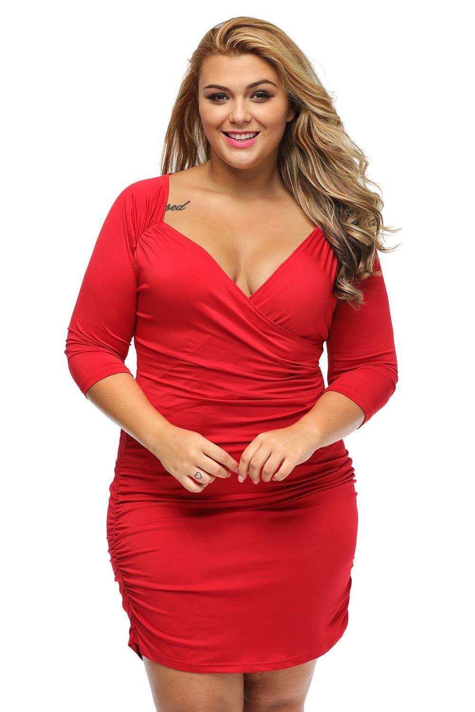 robe femme ronde ceremonie rouge col carre ruche pas cher. Black Bedroom Furniture Sets. Home Design Ideas