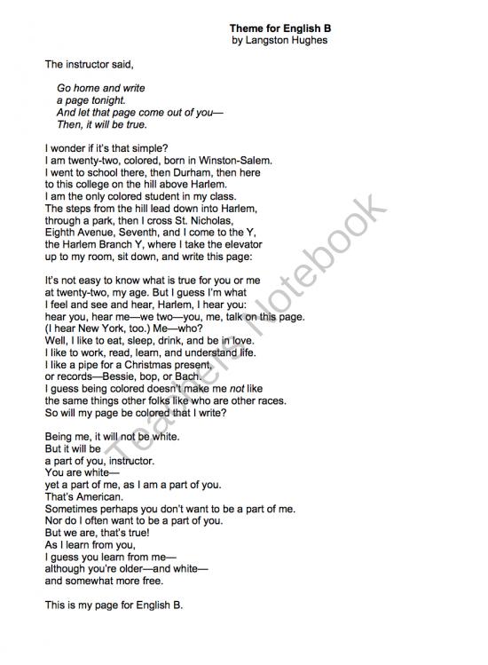 langston hughes 3 poems essay Read this sample essay on langston hughes that touches on his racial   langston hughes, in his short poem the negro speaks of rivers,.