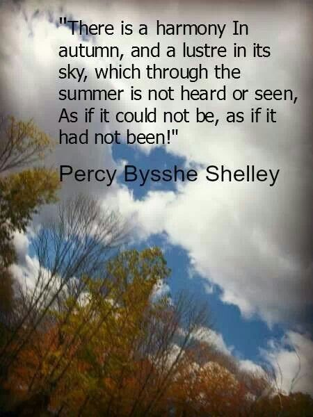 Percy Bysshe Shelley On Autumn Lautomne Pinterest