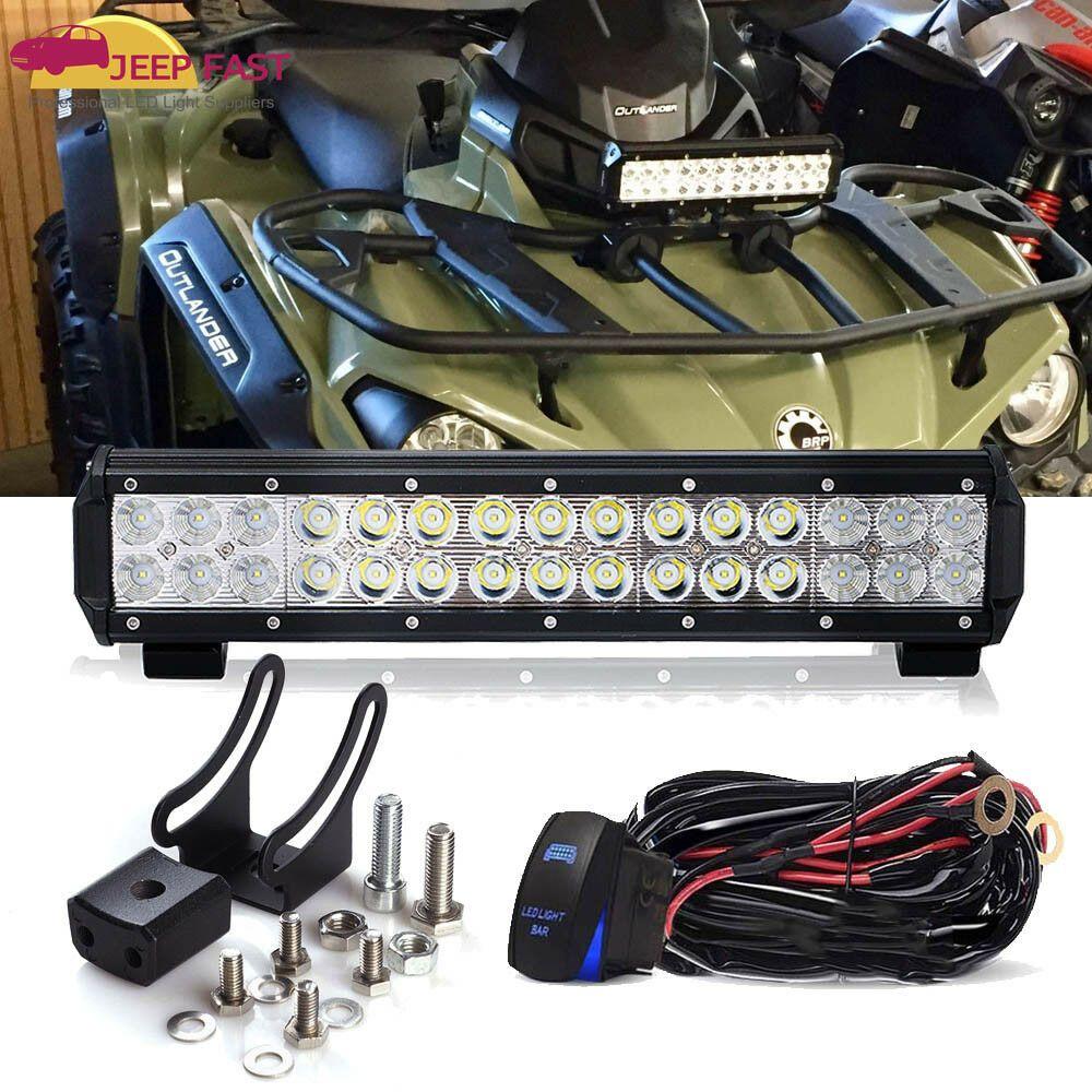 Sponsored Ebay Can Am Commander Maverick Defender Xps Front 14 5 Led Light Bar W Wiring Kit Can Am Commander Bar Lighting Can Am
