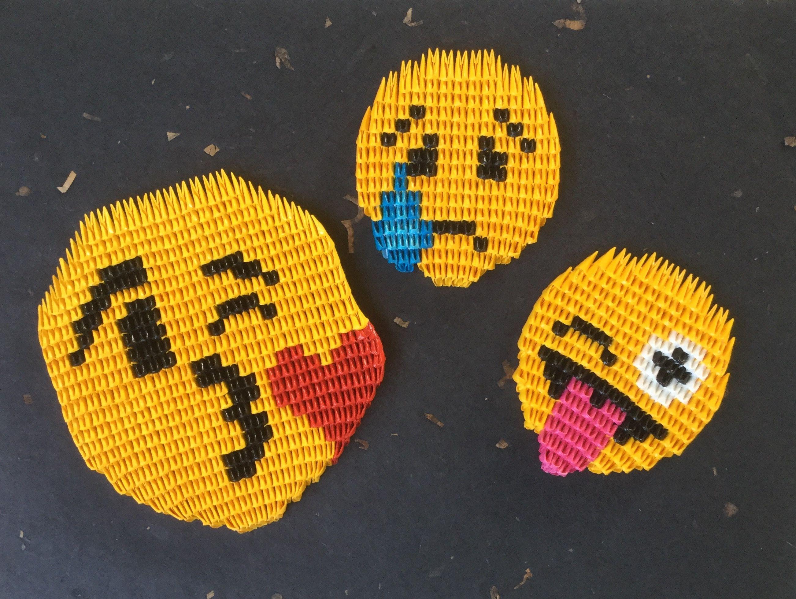 Emojis CREA | 3D origami / free patterns / YouTube - 3D ... - photo#43