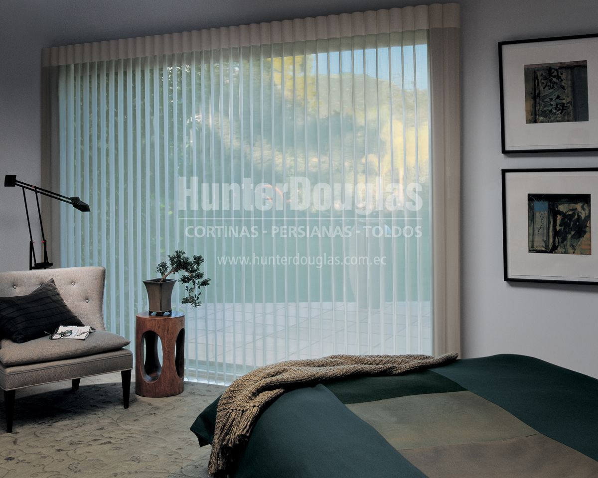 la cortina luminette es una cortina diseada para cubrir ventanas de gran formato