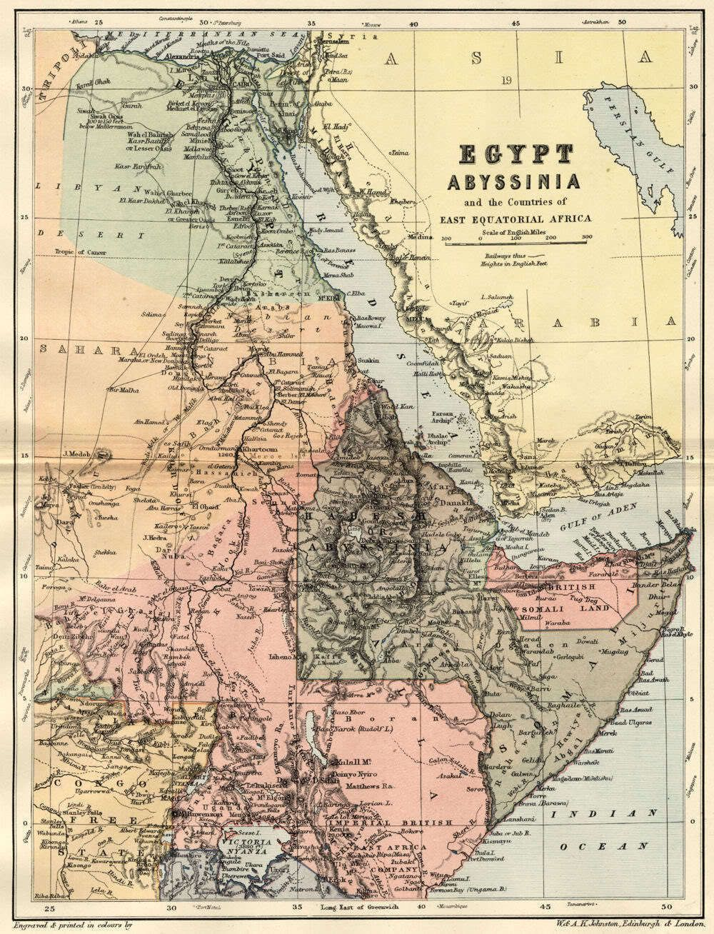 East Africa Red Sea Coast 1897 the source of the nile 1790