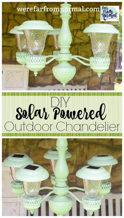 DIY Outdoor Solar Chandelier (an easy up-cycle project!)