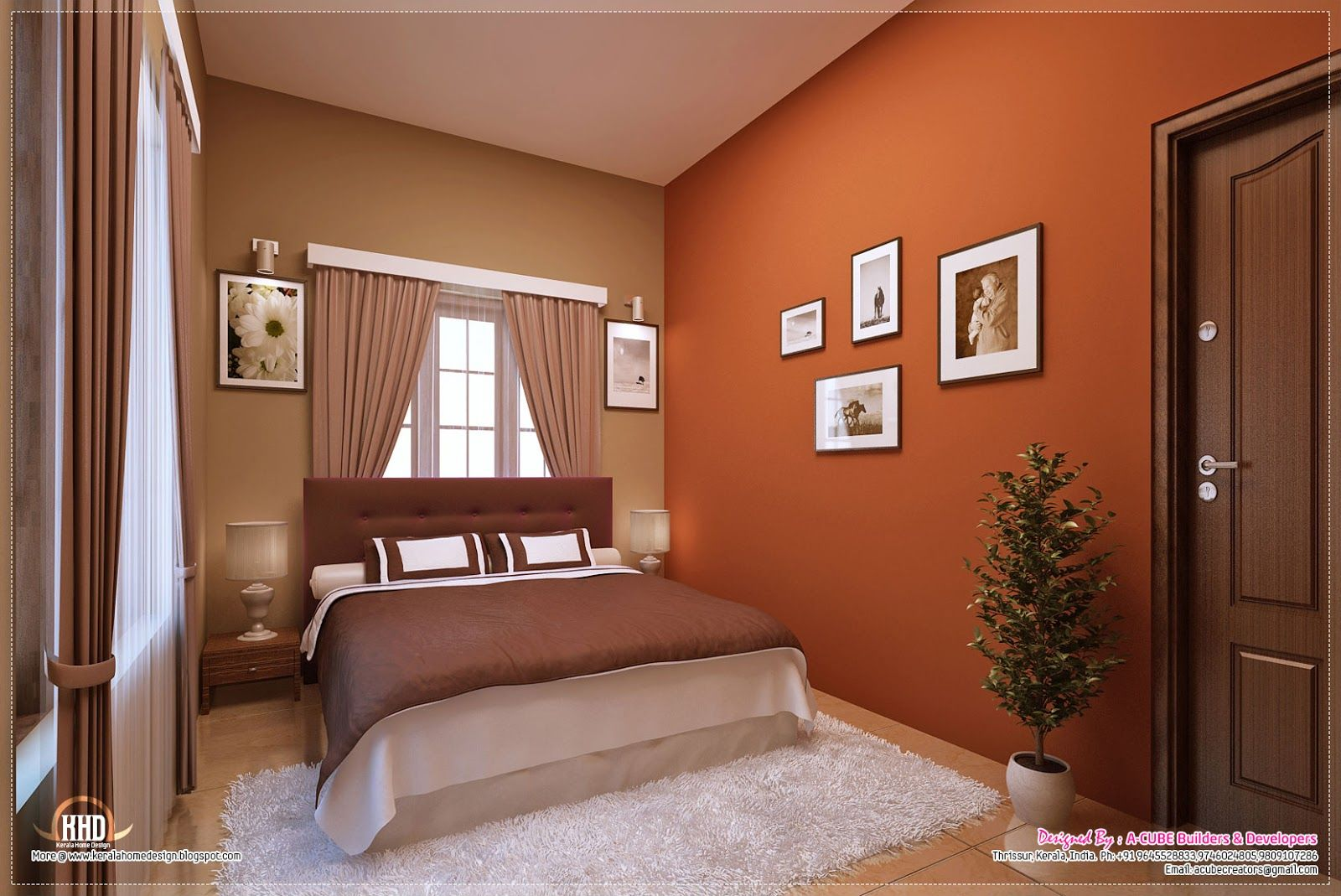 Awesome Interior Decoration Ideas Kerala Home Design And Small Bedroom Interior Indian Bedroom Decor Master Bedroom Interior