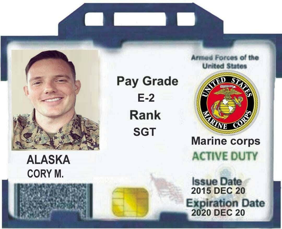 This Is What A Fake Military Id Looks Like And No Military Person Would Send You There Military Id American Express Card Id Card Template Army Retirement