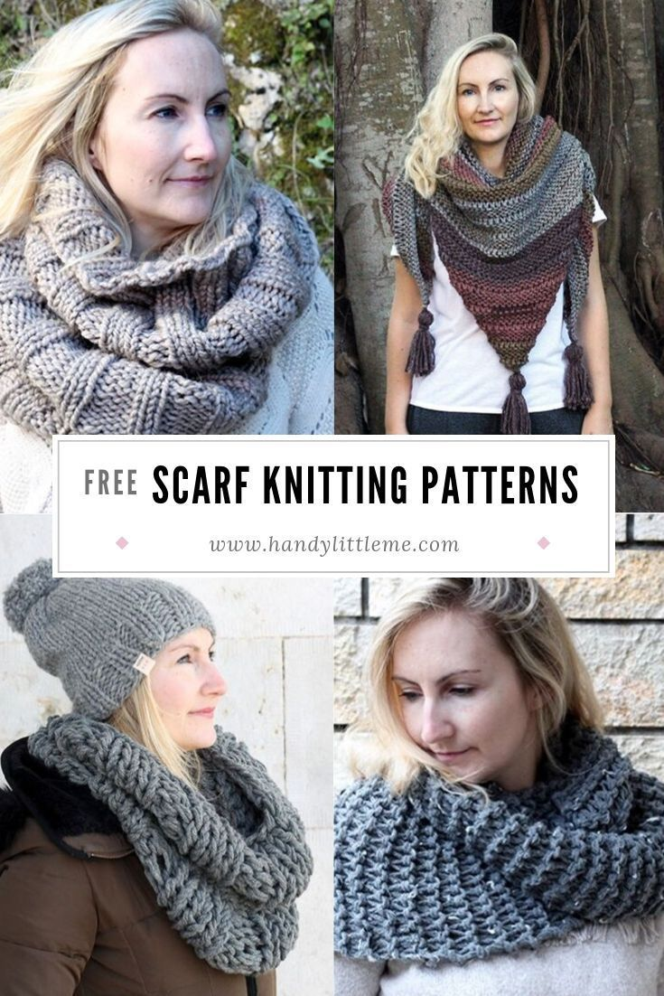 Scarf Knitting Patterns | Easy scarf knitting patterns ...