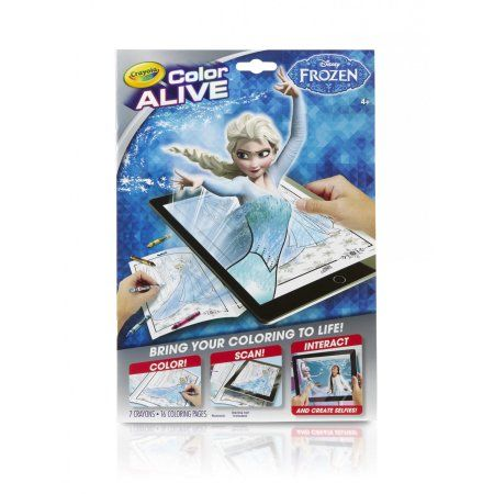Crayola Color Alive From Disney Frozen Brings Your Coloring To Life 16 Coloring Pages And 7 Crayons Included Walmart Com Disney Frozen Crayola Coloring Books