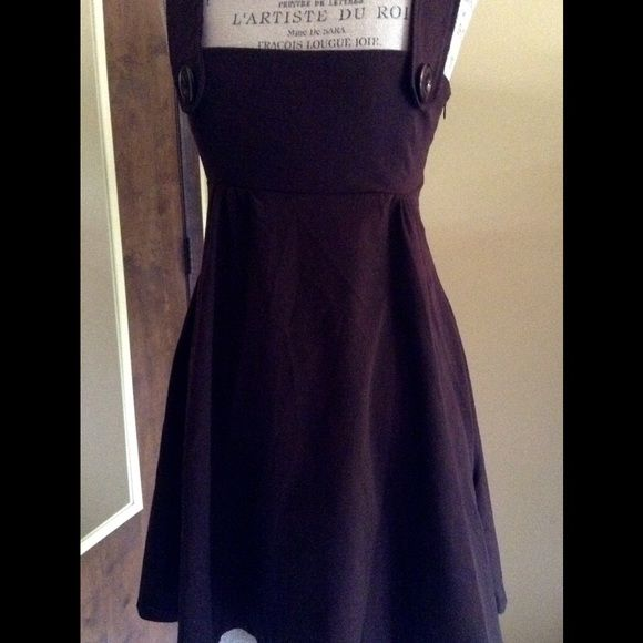 """Babydoll Dress Adorable babydoll dress by Necessary Objects. Size small. Brown. Innocent and sexy at the same time. Length- short (about 35"""" from top of strap to bottom of dress). Side zipper. Necessary Objects Dresses"""
