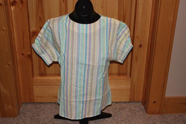 Levi Strauss & Co Shirt Womens 12 S/S Striped TRUE Vintage RARE Cool Strip Mint #LeviStraussco #Blouse