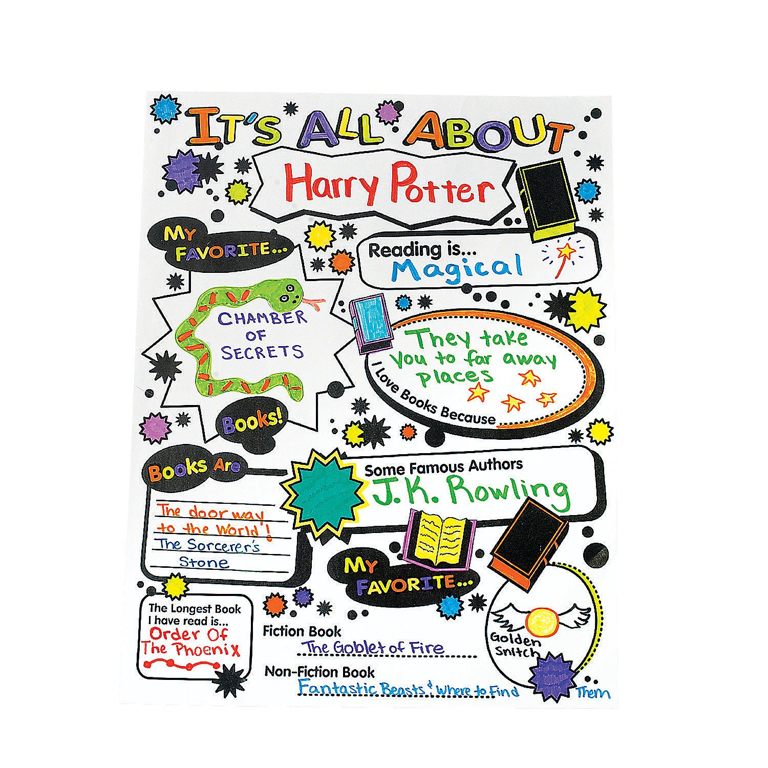Color Your Own It S All About Books Posters My Favorite