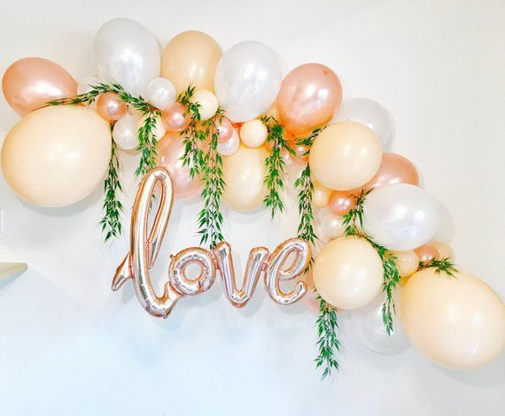 Balloon Garlands, DIY Balloon Garland, Balloon Arch,Balloon Garland Kit, Rose Gold Bridal Shower, Rose Gold Balloons,