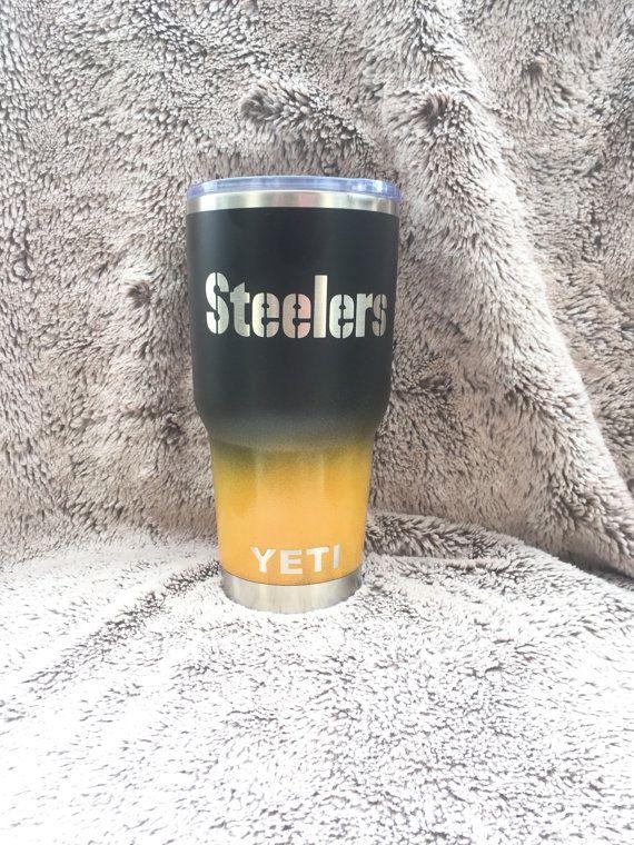 Custom Pittsburgh Steelers Yeti 30 Oz Rambler Cup Powder