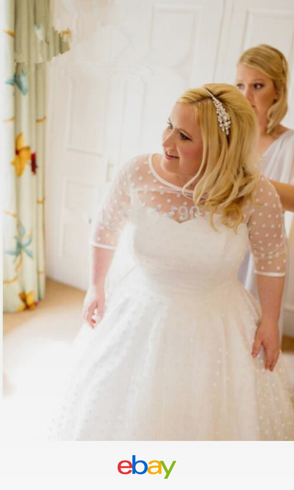 Details About Vintage Sheer Lace Tea Length Wedding Dresses Short