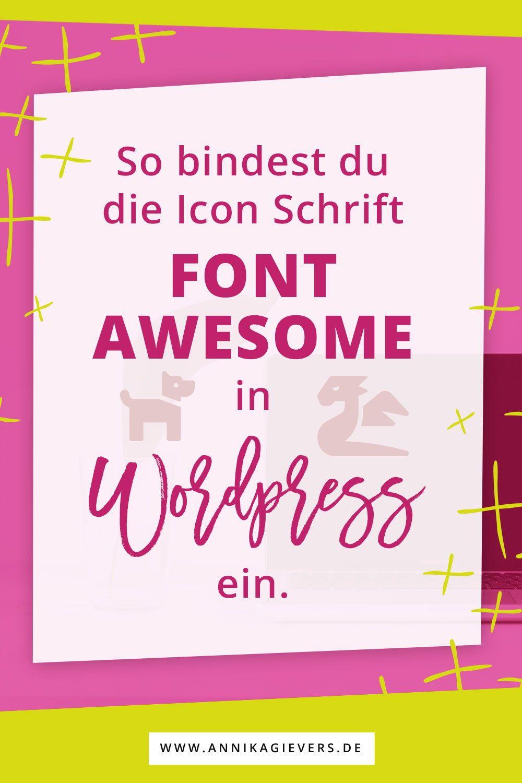 Font Awesome in WordPress installieren (mit Bildern