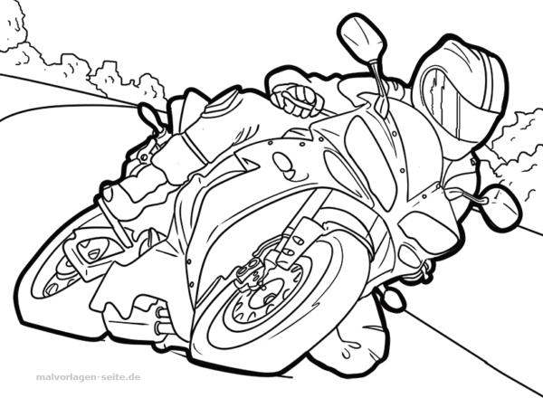Malvorlage Motorrad Fahrzeuge - Kostenlose Ausmalbilder