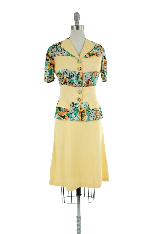 Vintage 1940s Color Block Swag Dress: Pin By Camellia On Old Fashioned Lady