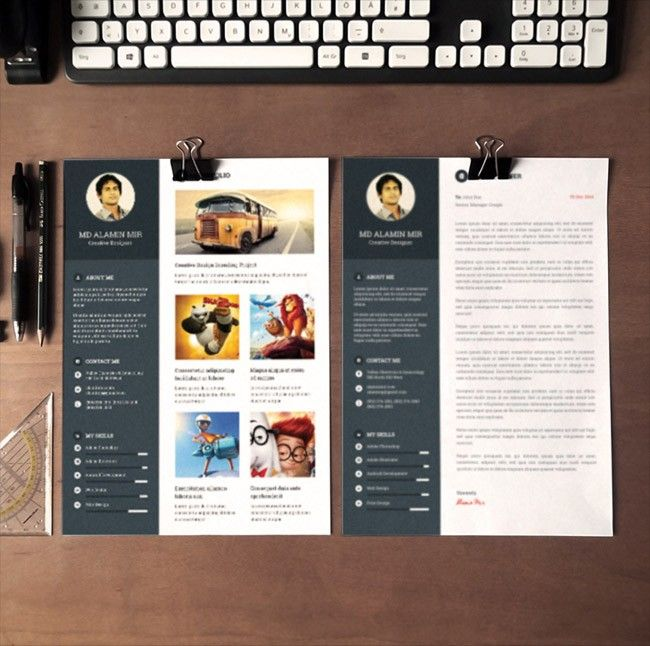 Free Modern Resume Template With Cover Letter | Portfolio/Resumes