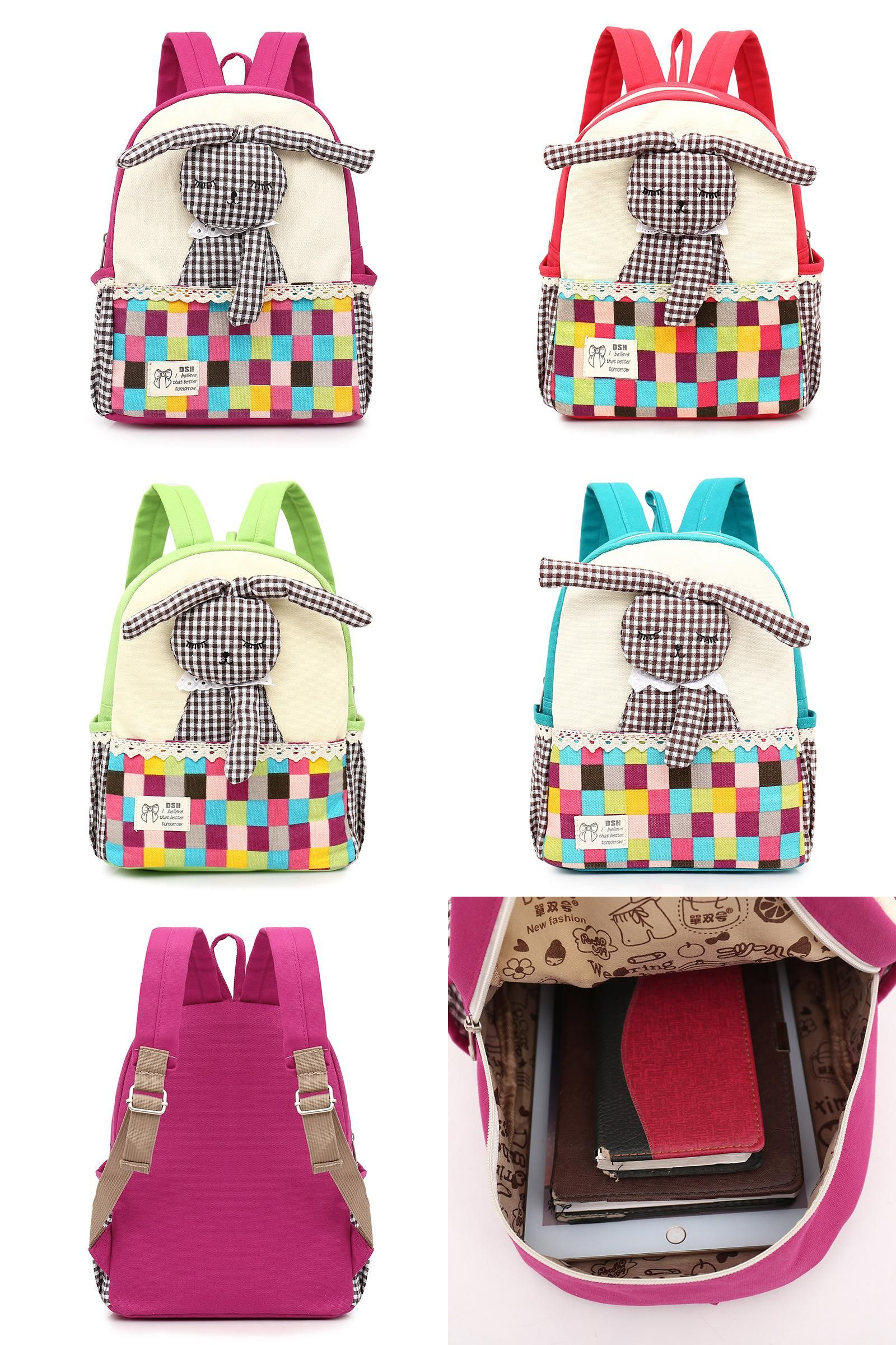 fa1fe639b0  Visit to Buy  2016 Animal Design Children Girls 3D Cute Rabbit School Bag  Kids