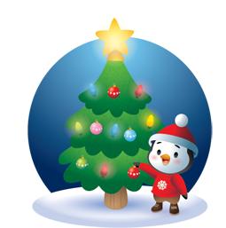 Facebook Messenger Waddles Holiday Sticker 28