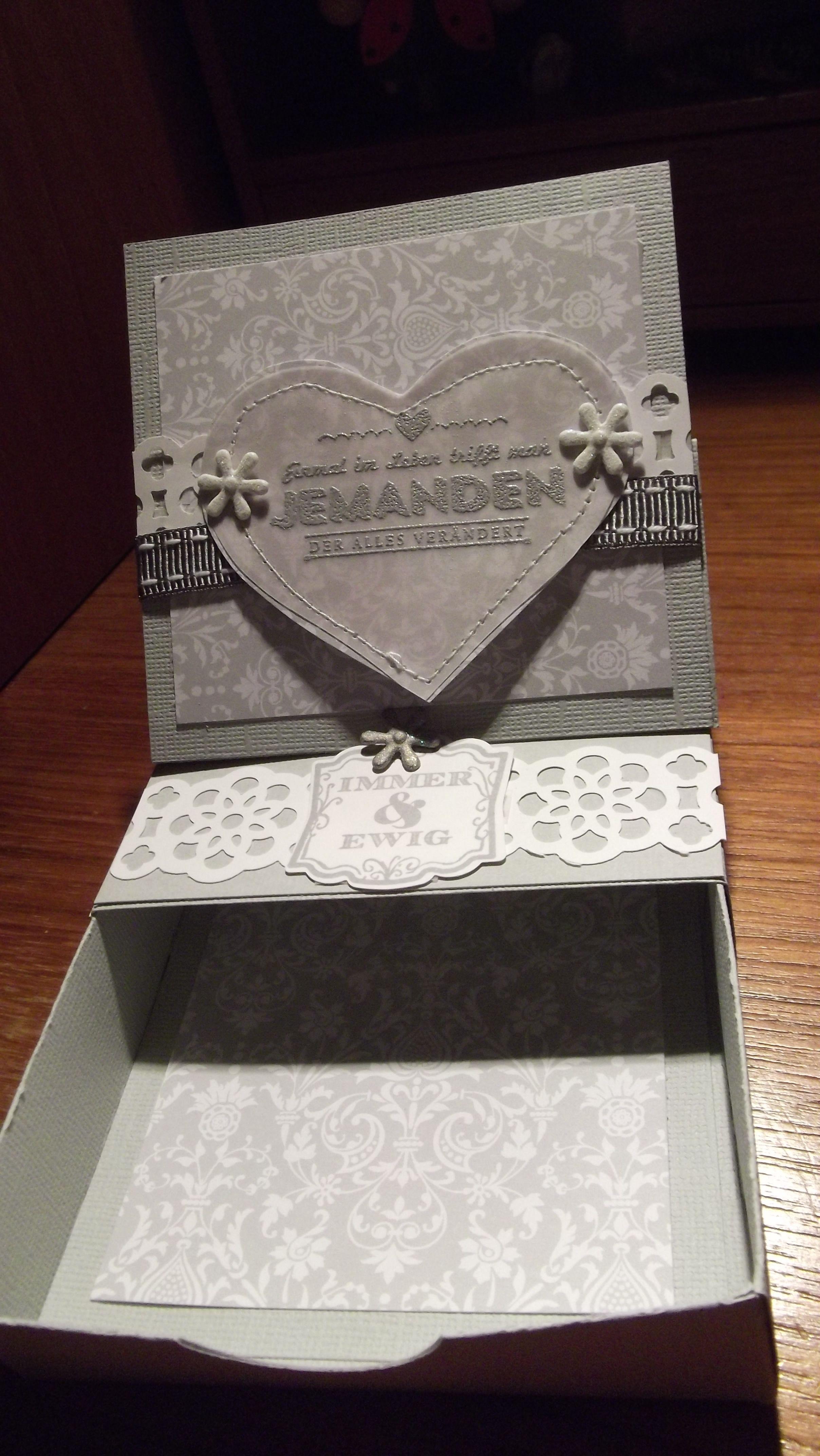 Schachtel für ein kleines (Geld) Geschenk