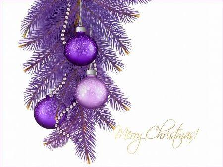 Christmas purple - 3D and CG & Abstract Background Wallpapers on ...