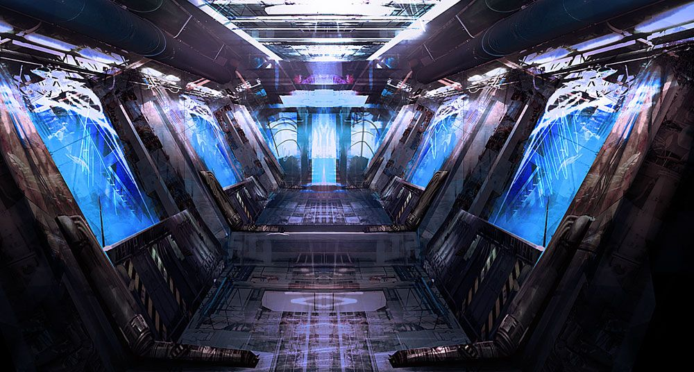 'Fusion Lab Catwalk' by da_darkmatter Sci fi environment