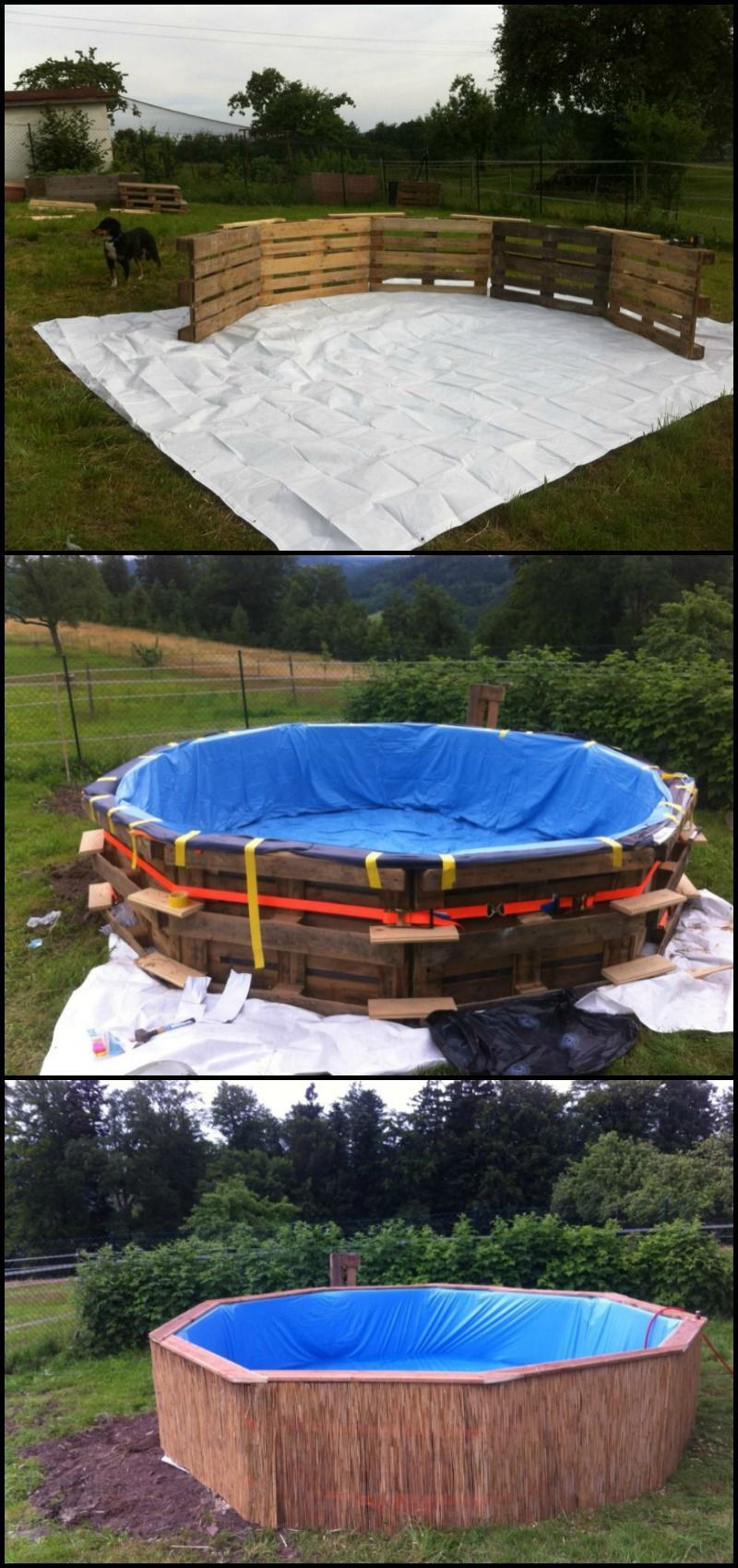 Swimming Pool Aus Paletten Swimming Pool From Recycled Pallets Gartengestaltungsideen