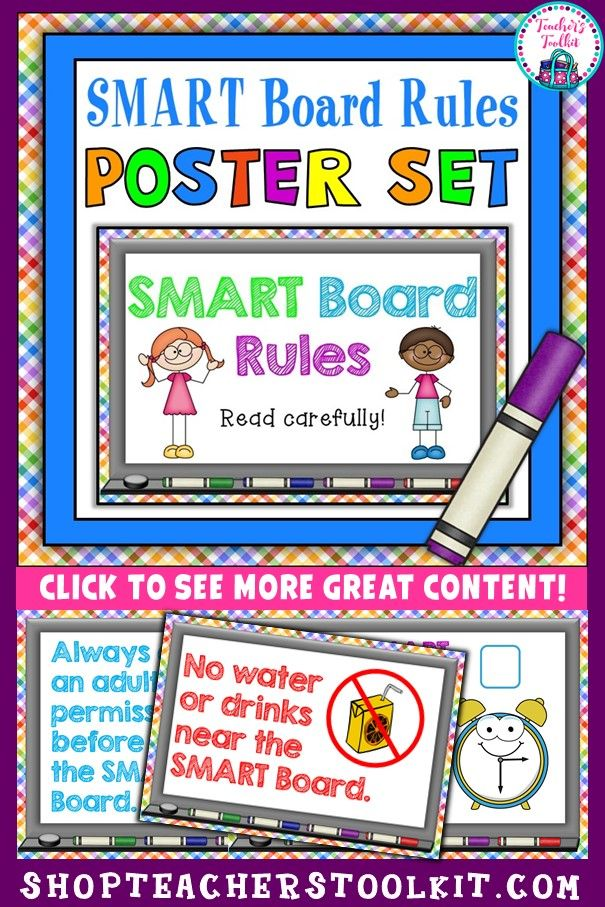 Smart Board Rules Posters Class Rules Classroom Management Smart Board Poster Display Interactive Board