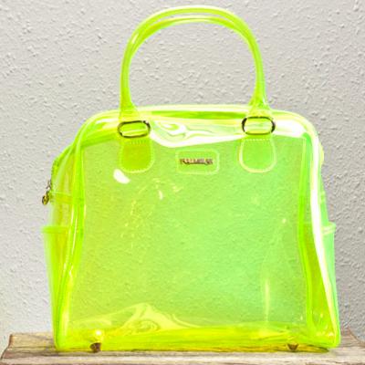 ef9f90f66d8a27 Clear neon bag Neon Bag, Jelly Bag, Green Handbag, Neon Yellow, Beautiful
