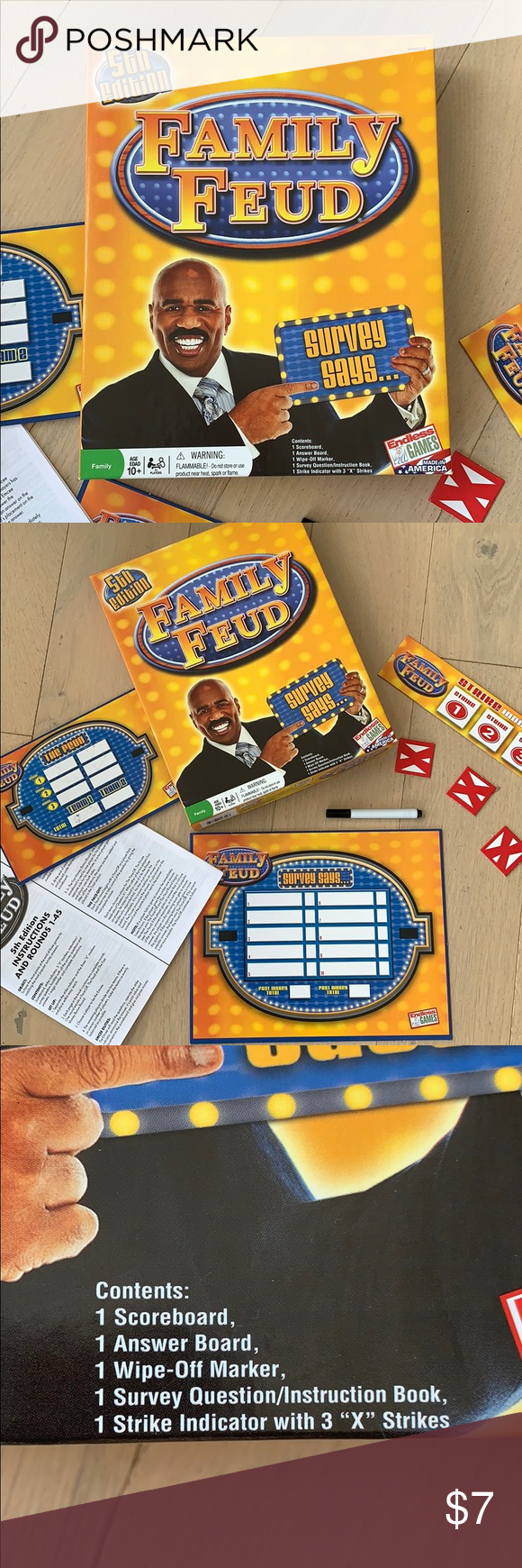 Family Feud 5th Edition Board Game Preloved box and all