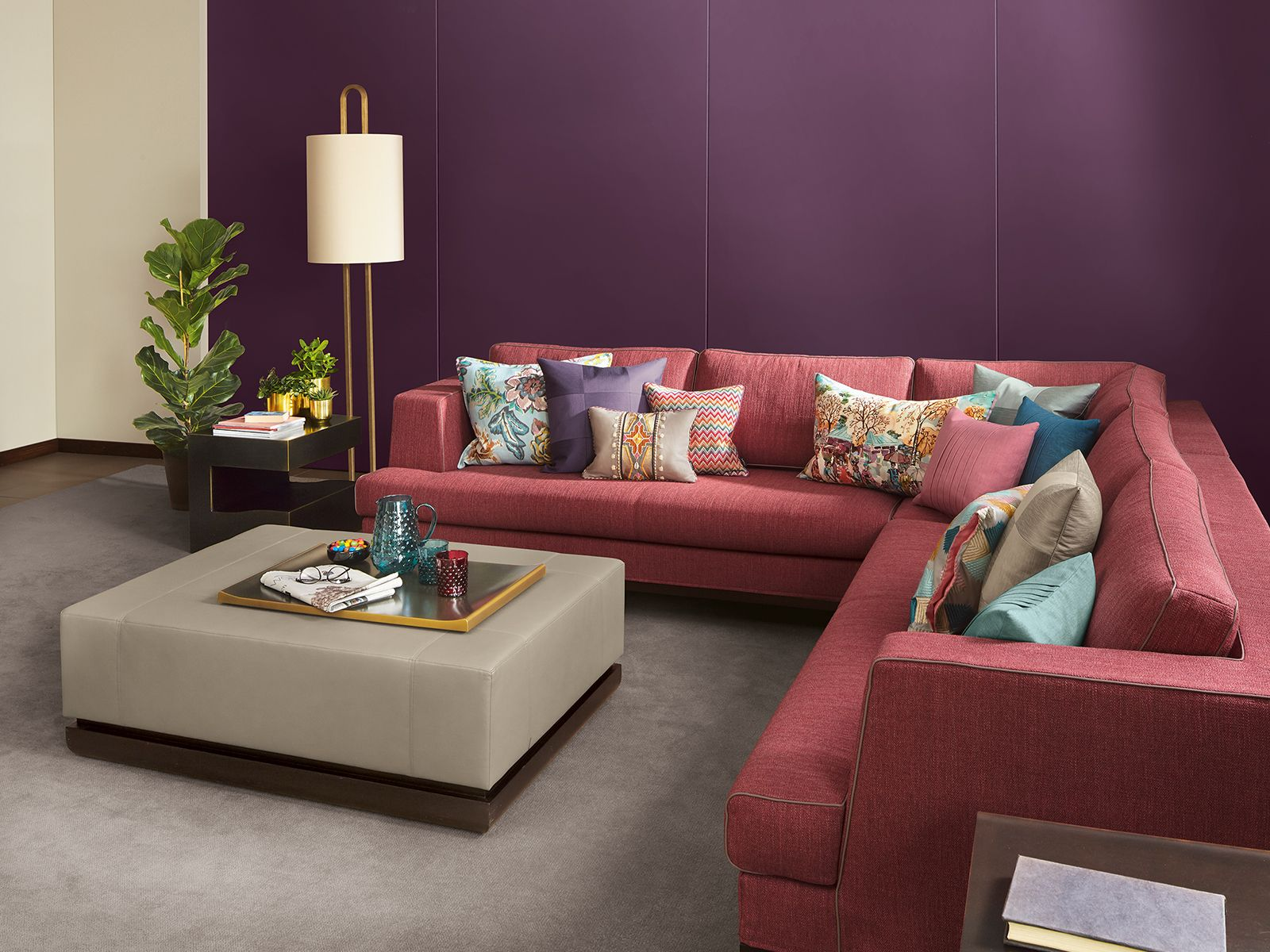 cushion, sofa FAMILY, colourful, living room, lamp | CUSHIONS ...