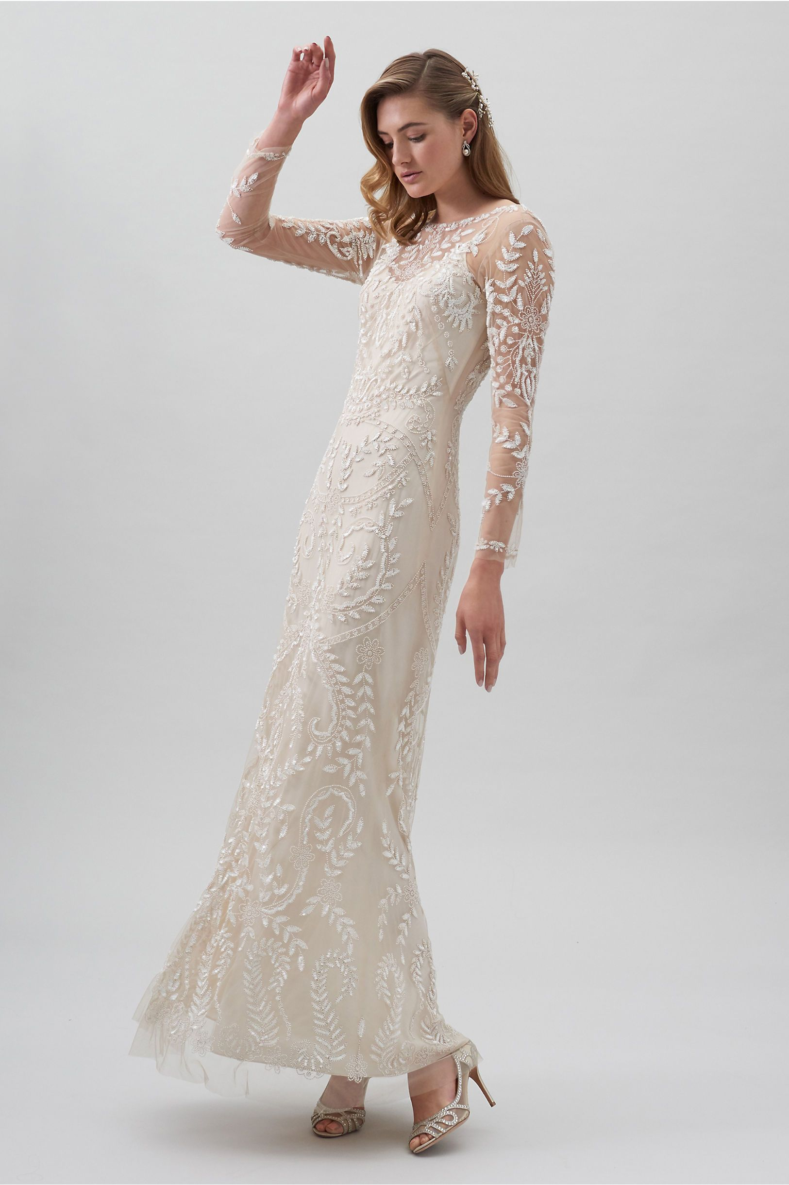 Beyond The Sea Gown Champagne in Bride BHLDN