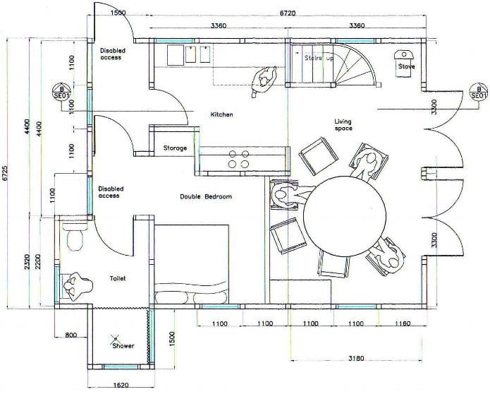 Wheelchair accessible floor plans new new ground floor for Handicapped accessible bathroom plans