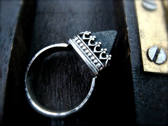 witchy woman black tourmaline protection ring by sirenjewels, $85.00