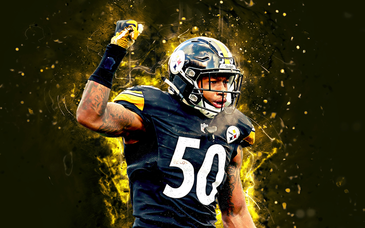 Download Wallpapers 4k Ryan Shazier Abstract Art Linebacker American Football Nfl Pittsburgh Steelers Shazier National Football League Neon Lights Cre National Football League Football National Football