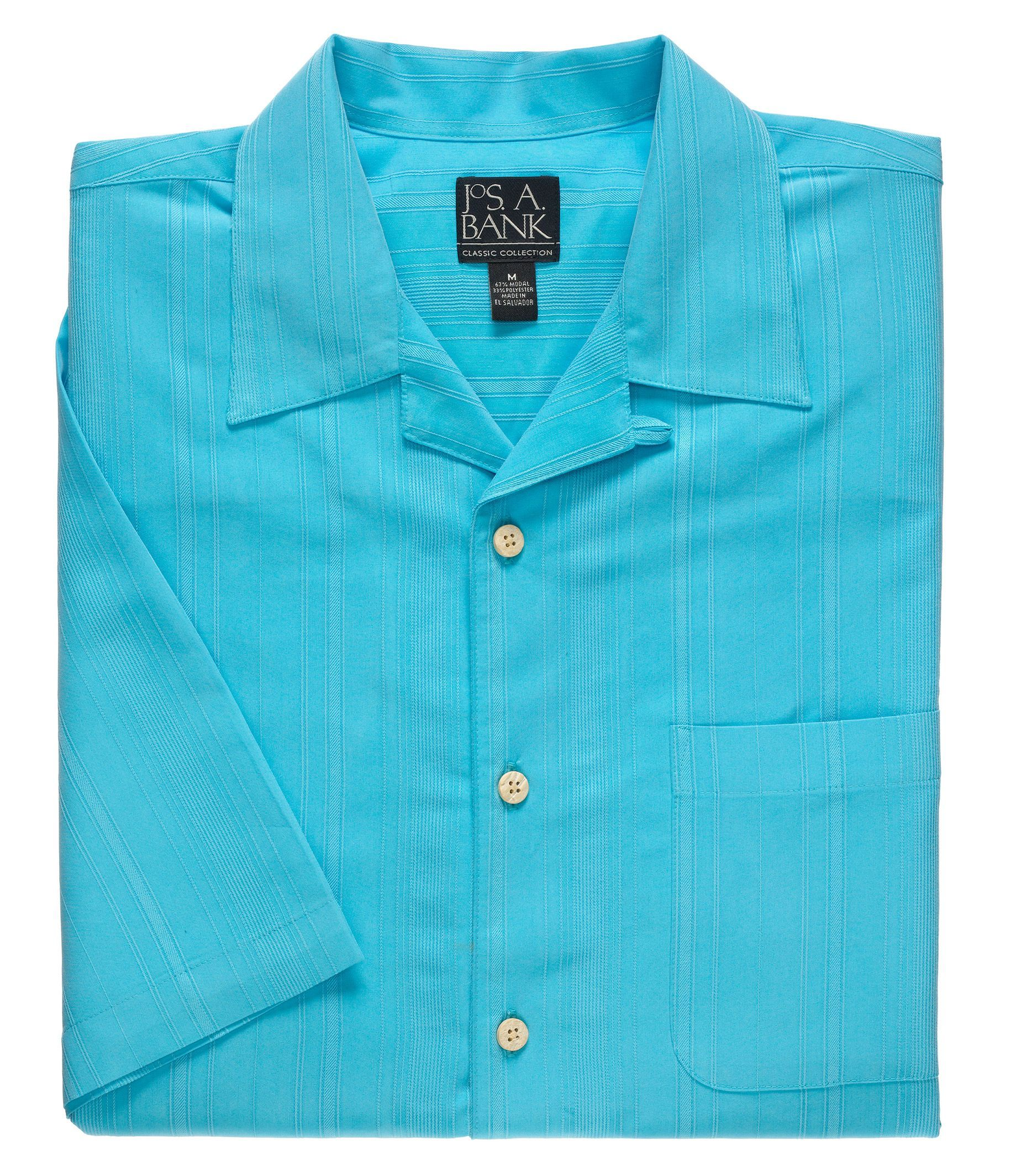 Classic Collection Short-Sleeve Point Collar Sportshirt CLEARANCE
