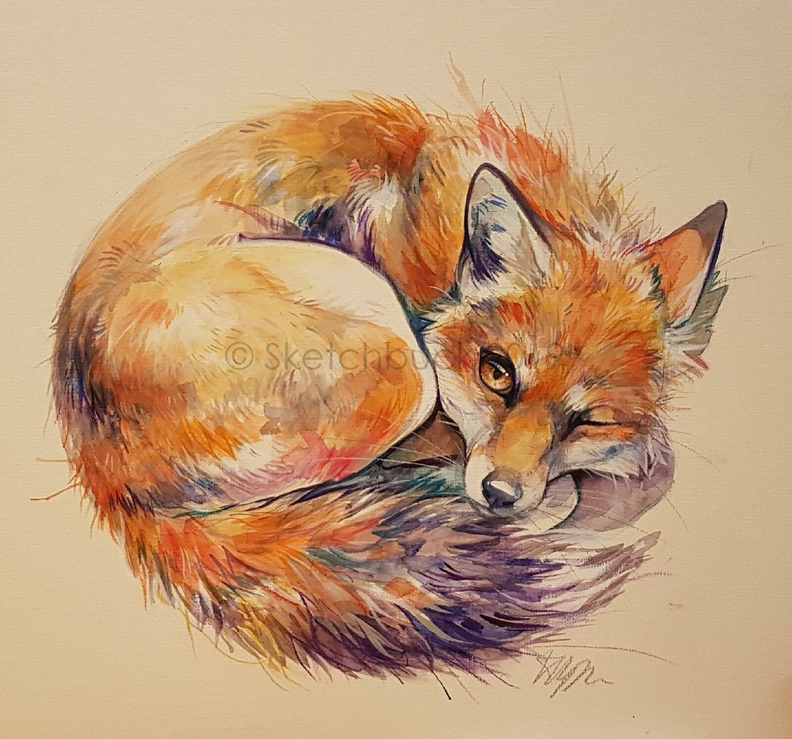 Pin By Liela On Art Is Life In 2020 Watercolor Fox Animal Art Fox