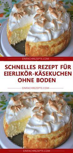 Zutaten für 12 Stücke: 1 kg Sahnequark 150 ml Eierlikör 5 Eier (M) 200 g Zuck...