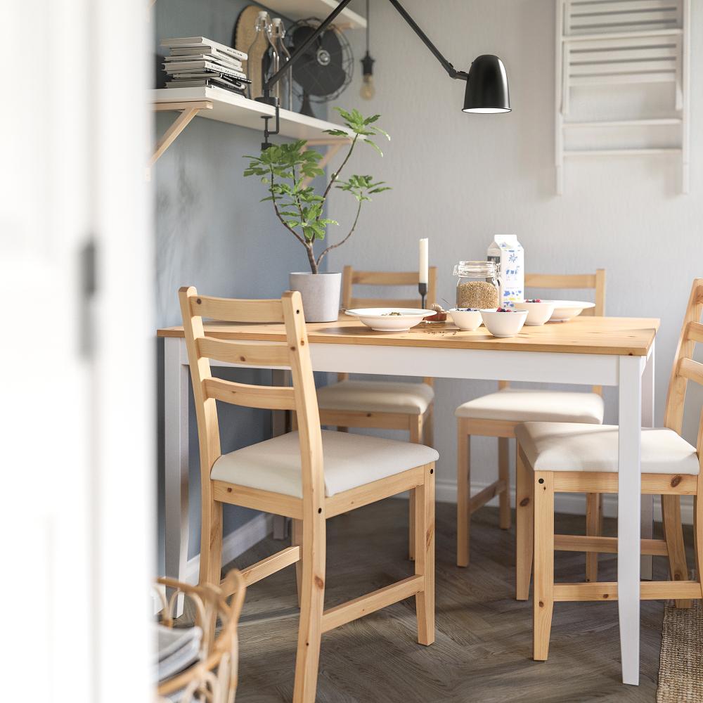 Benvenuto nella sezione dedicata ad un vasto assortimento di sedie design per la tua sala da pranzo. Lerhamn Chair Light Antique Stain Vittaryd Beige Ikea Ikea Lerhamn Upholstered Dining Chairs Antique Stain