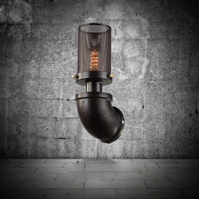 DIY Retro Hollow Iron Wall Lamps Industrial Rustic Lamps Creative Arts Lamps Water Pipe Cafes Library Lamps