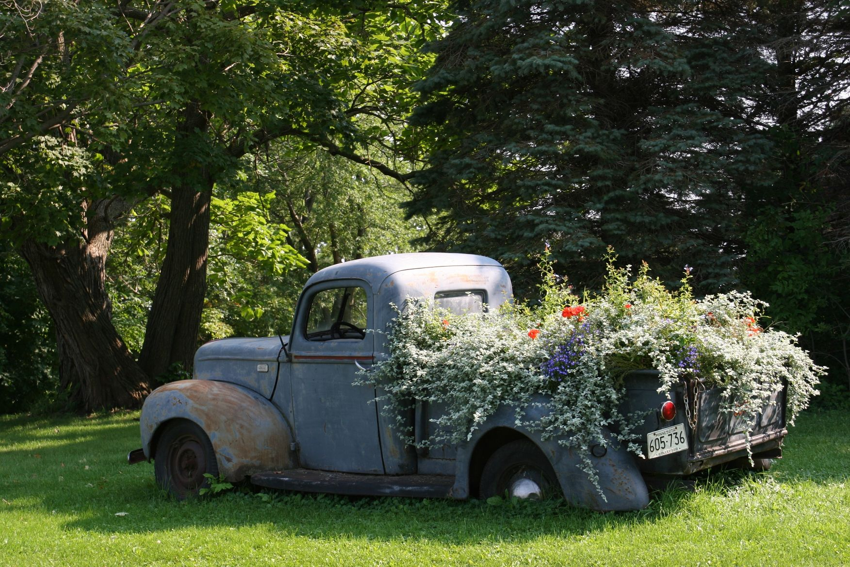 The Joys Revelations Of A Sunday Afternoon Drive In Rural Minnesota Flower Landscape Flower Truck Lawn Design