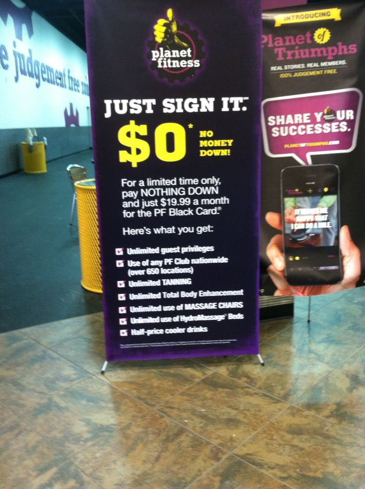 They Have The Best Deals Planet Fitness Is Totally Worth It Planet Fitness Workout Black Card Fitness