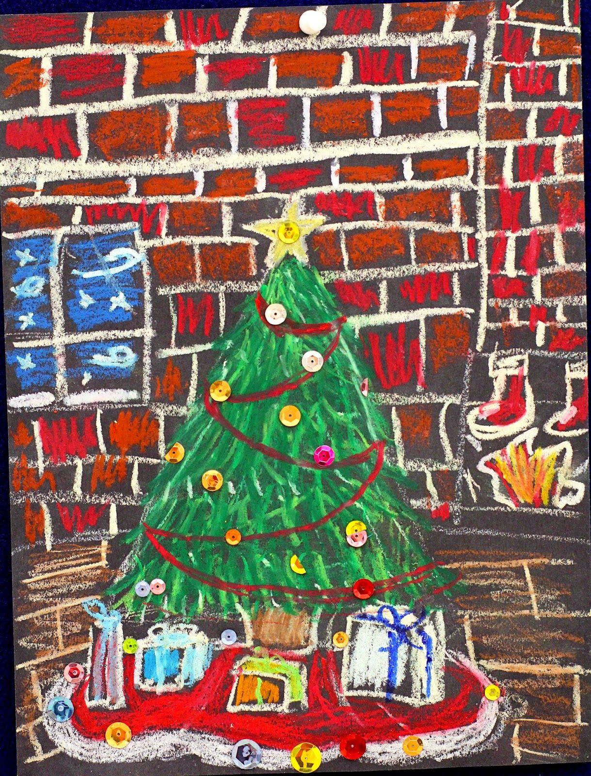 smART Class: Winter Scenes and Olaf feet!! | school kerst ...